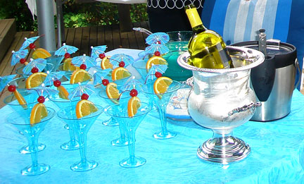 say aloha to blue hawaiian baby shower drinks