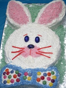 Easter Bunny Cut-Out Cake