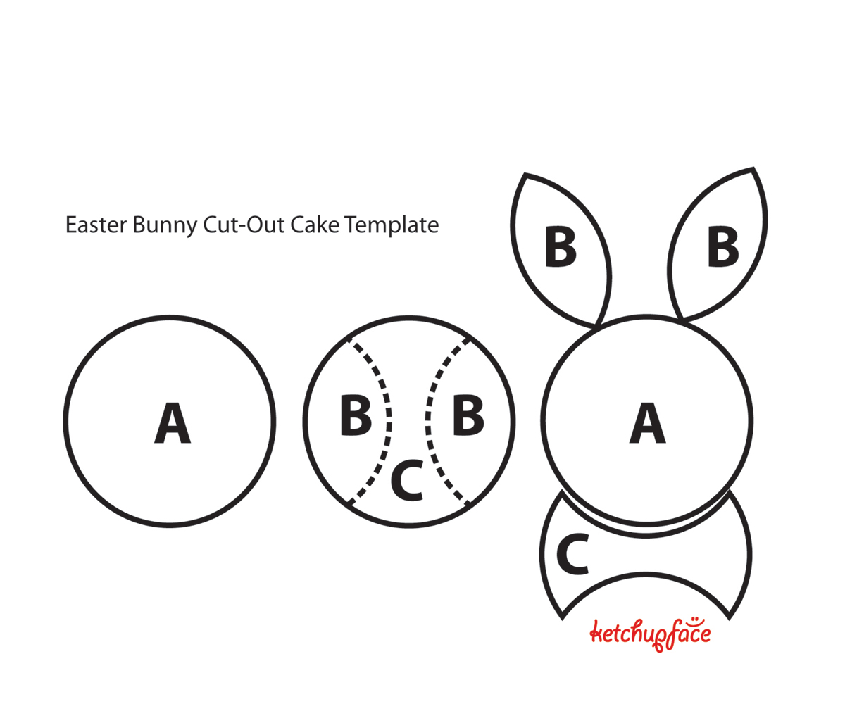 bunny cake the easiest cut out cake you ll ever make