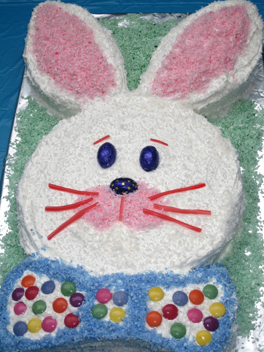 Bunny Cake: The easiest cut-out cake you'll ever make ...